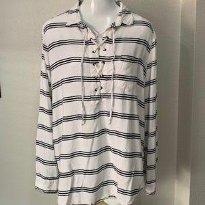 Beach lunch lounge stripe shirt Size XL